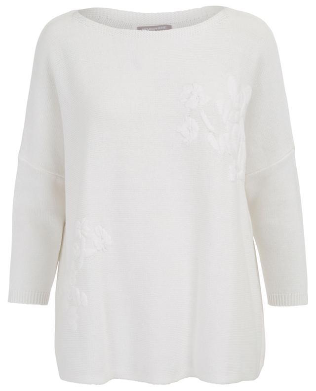 Loose floral embroidered cotton jumper HEMISPHERE