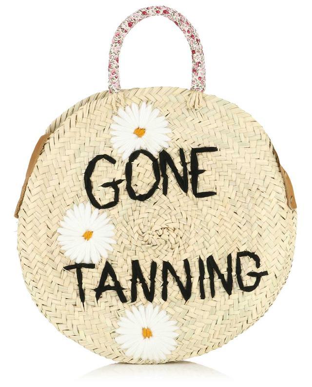 Medium Gone Tanning wicker handbag MANA SAINT TROPEZ