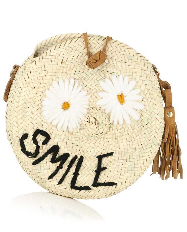 Smile wicker shoulder bag MANA SAINT TROPEZ