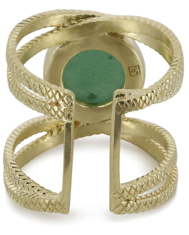 Iris gold-plated ring with aventurine COLLECTION CONSTANCE