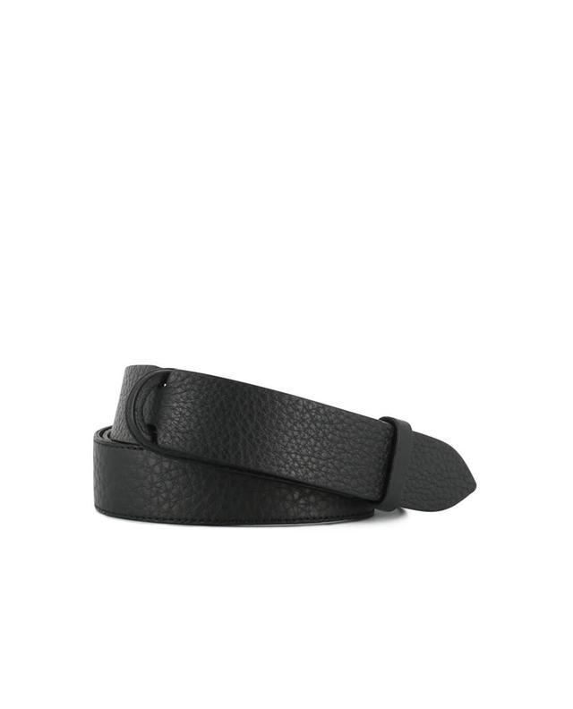 Orciani ceinture en cuir grainé noir a12413
