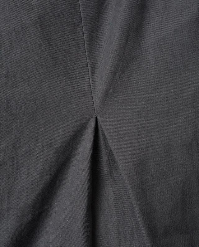 Robe sans manches en lin mélangé avec pli FABIANA FILIPPI