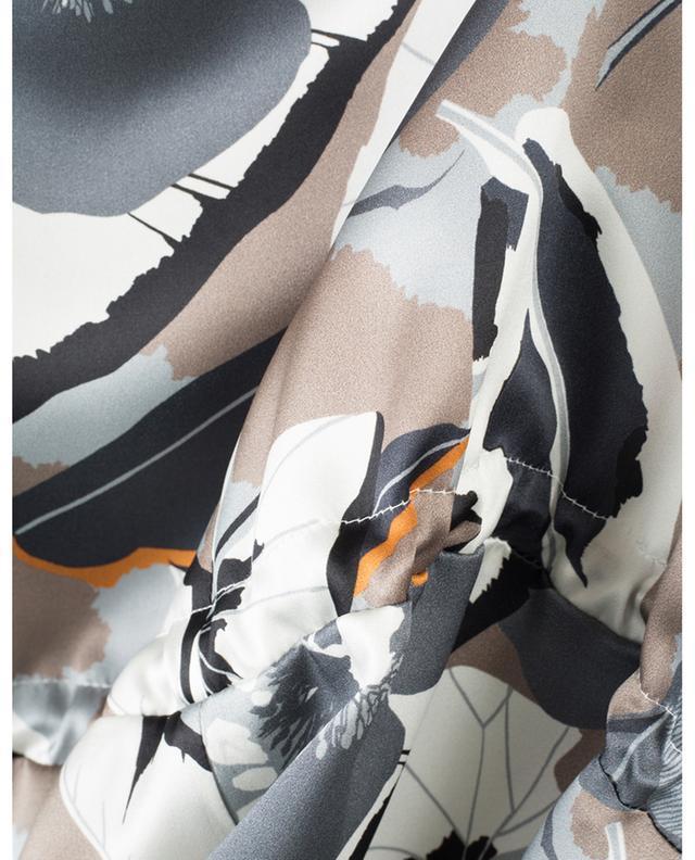 Robe sans manches asymétrique en soie fleurie FABIANA FILIPPI