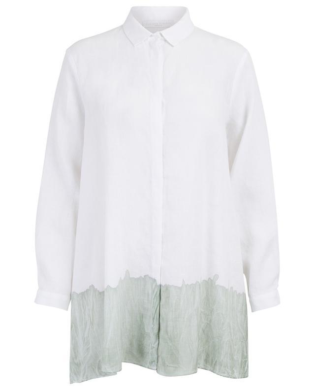 Long linen shirt with batic detail FABIANA FILIPPI