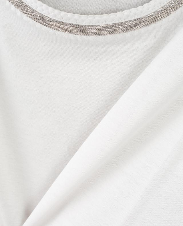 Débardeur en jersey brodé de perles FABIANA FILIPPI