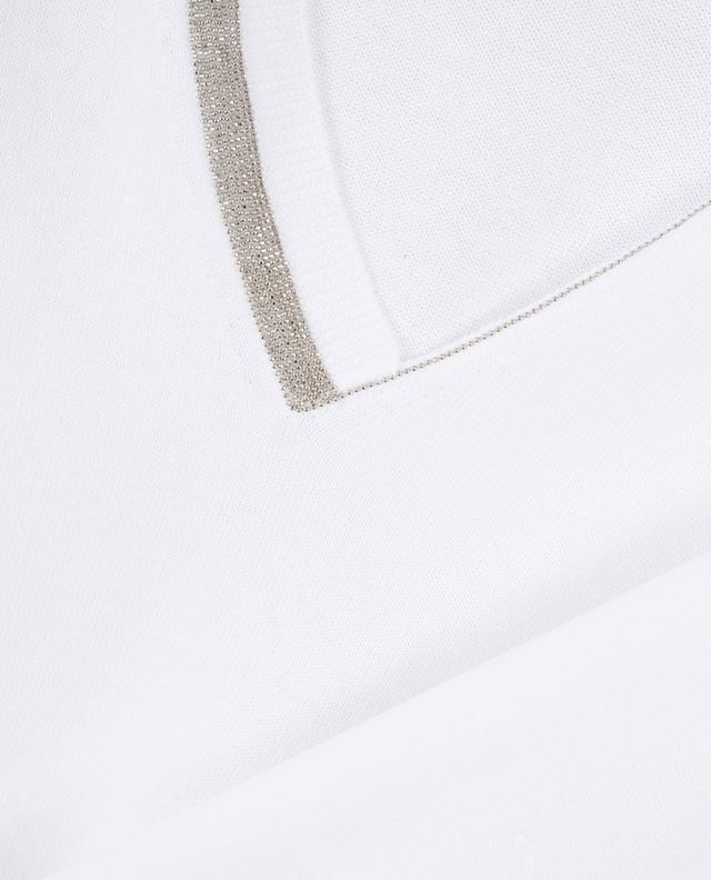 Short-sleeved jumper with embroidered V-neck FABIANA FILIPPI