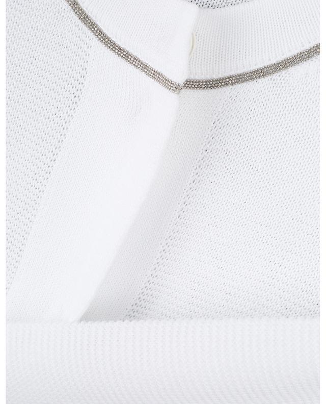 Bead embroidered garter stitch cardigan FABIANA FILIPPI
