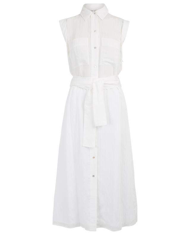 Striped sleeveless midi shirt dress VINCE