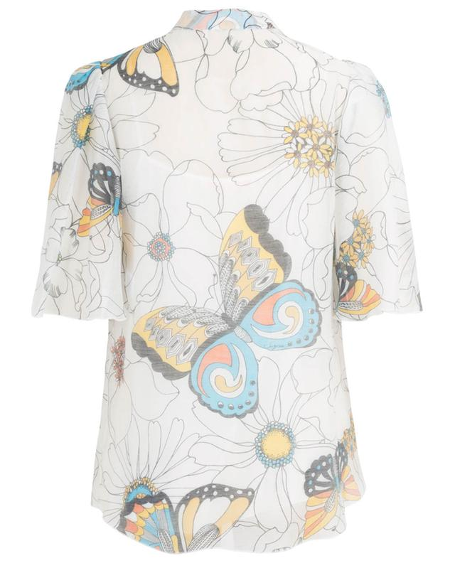 Blouse en organza à manches cape Butterflies and Flowers SEE BY CHLOE