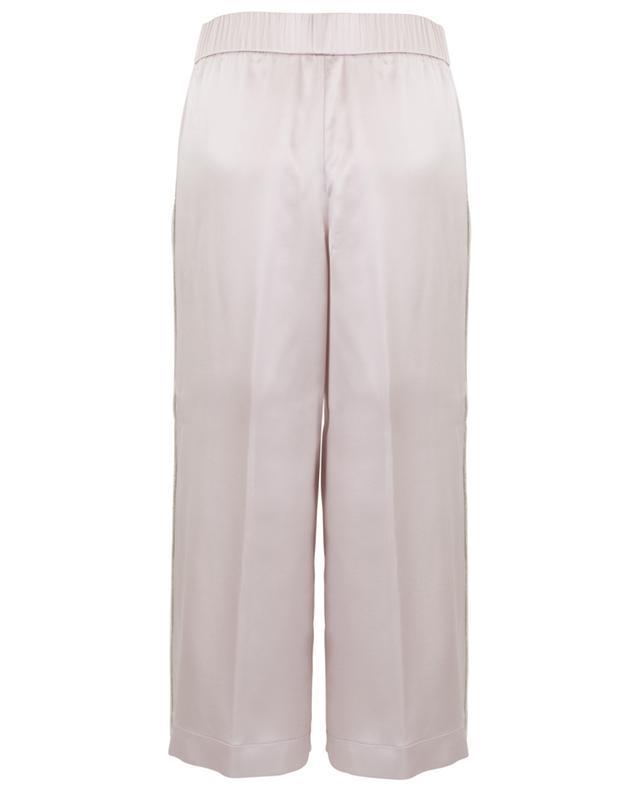 Pantalon raccourci en soie brodée FABIANA FILIPPI