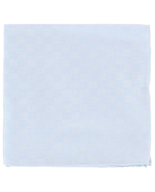 Check silk and cotton pocket square SIMONNOT GODARD