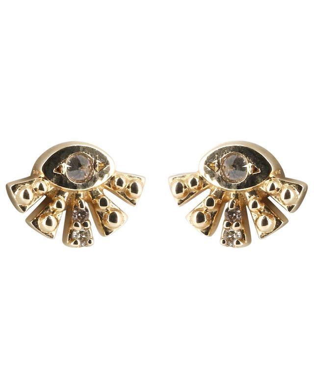 c1a0136280a6a0 CELINE DAOUST Aztec Sun Eye gold earrings - Bongénie-Grieder