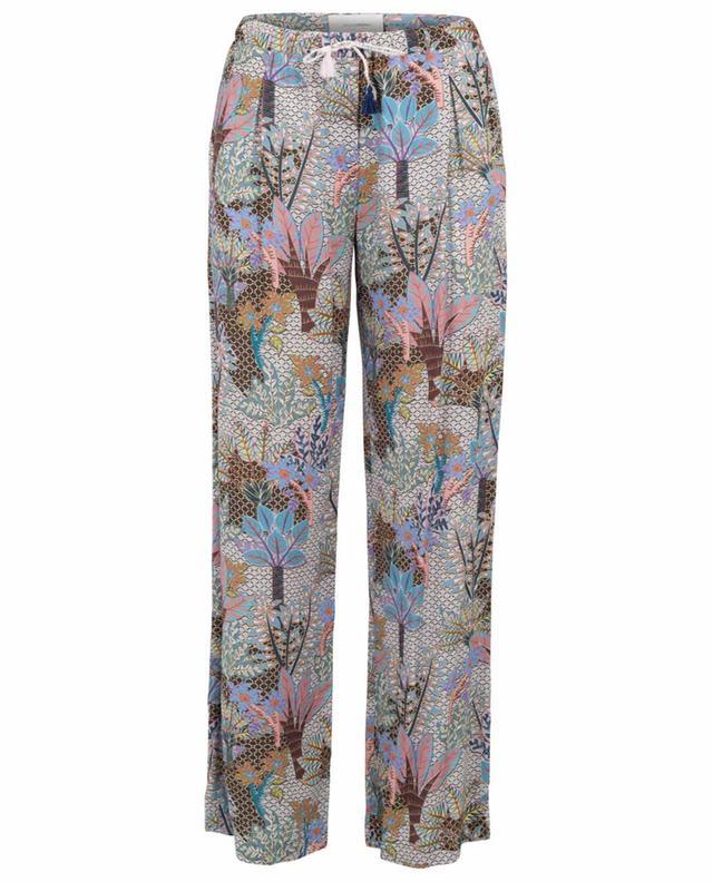 Printed cotton wide-leg trousers URSULA ONORATI