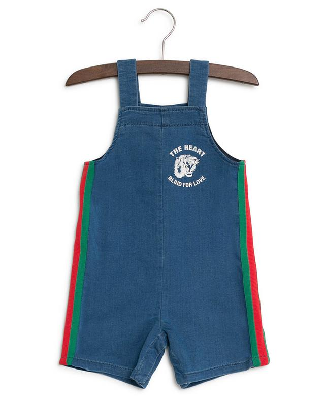 The Heart Blind For Love faux denim dungarees GUCCI