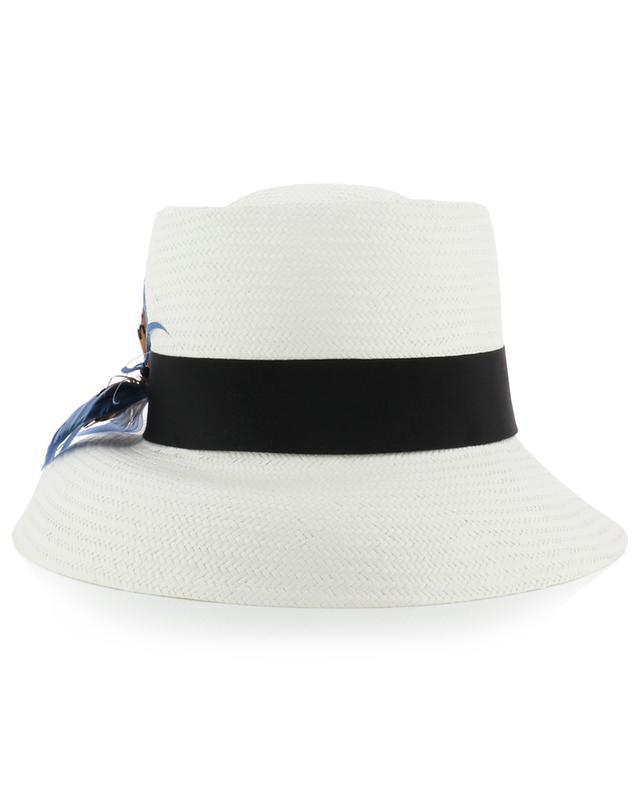 Geflochtener Hut mit Federschmetterling GI'N'GI