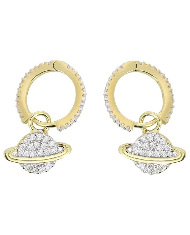 Planet golden hoop earrings APM MONACO