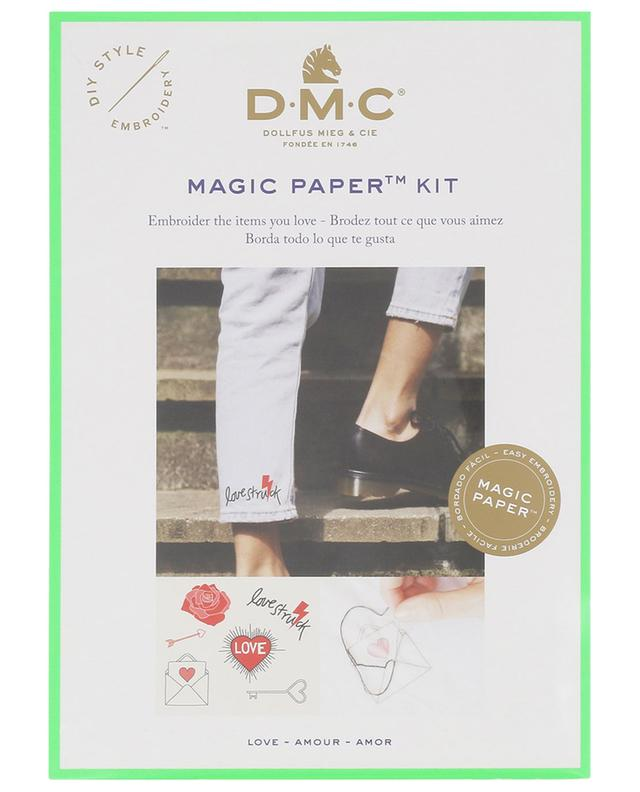 Kit de broderie Magic Paper Amour DMC