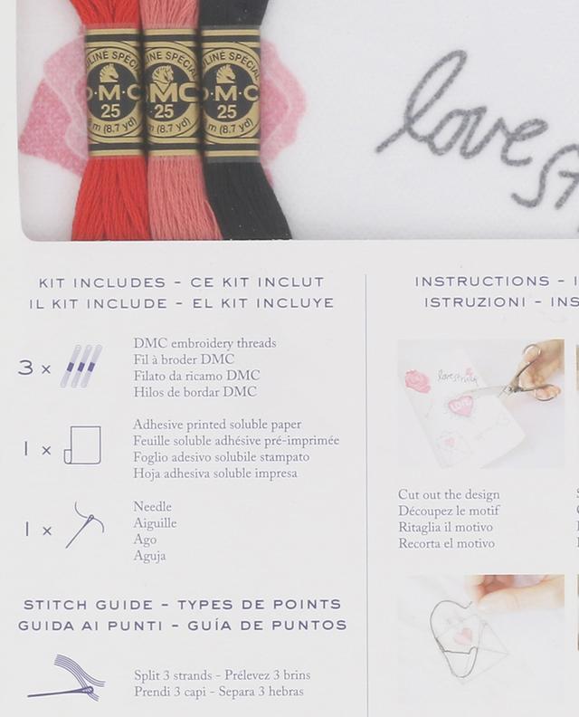 Stickerei-Set Magic Paper Amour DMC