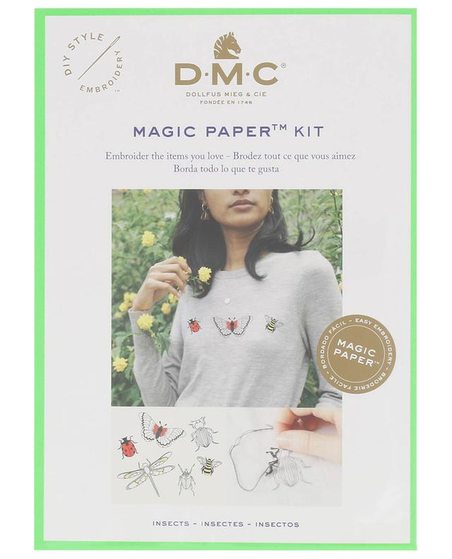 Magic Paper Insects embroidery kit DMC
