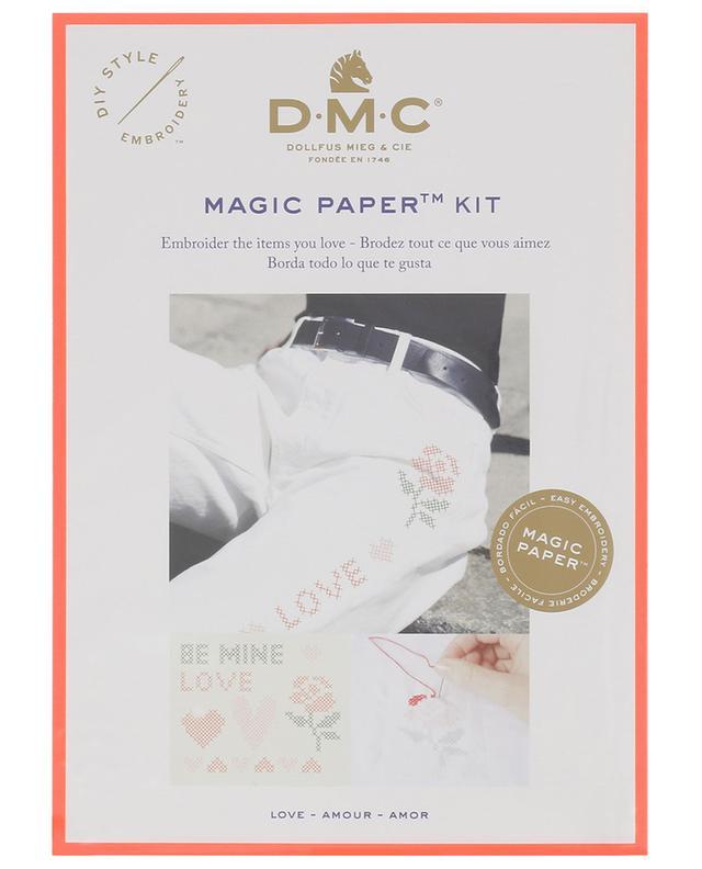 Kit broderie point de croix Magic Paper Amour DMC