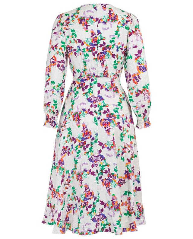 Eve textured floral midi dress SALONI