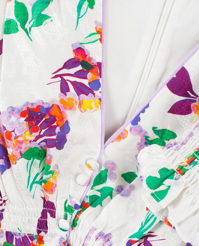 Eve textured floral midi dress SALONI