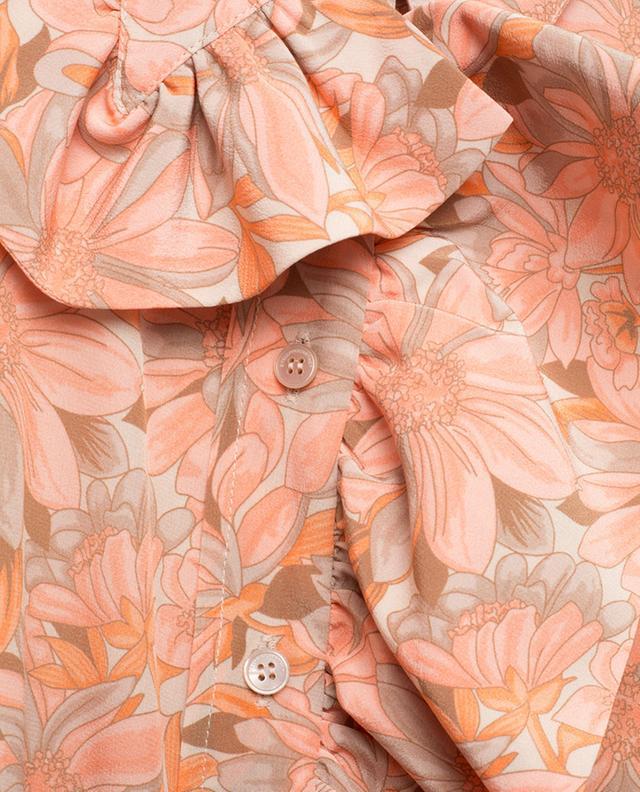 Geblümtes Hemd aus Seide mit Rüschen STELLA MCCARTNEY