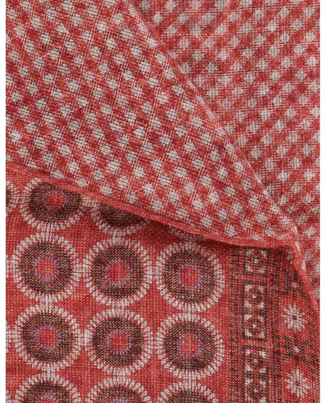 Pochette réversible en lin et coton ROSI COLLECTION