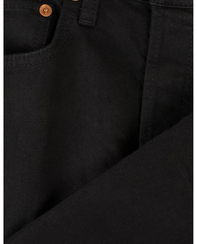 Jean taille haute droit High-Rise Stove Pipe Faded Black RE/DONE