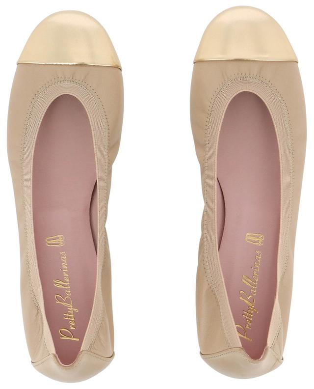 Shirley metallic cap ballet flats PRETTY BALLERINAS