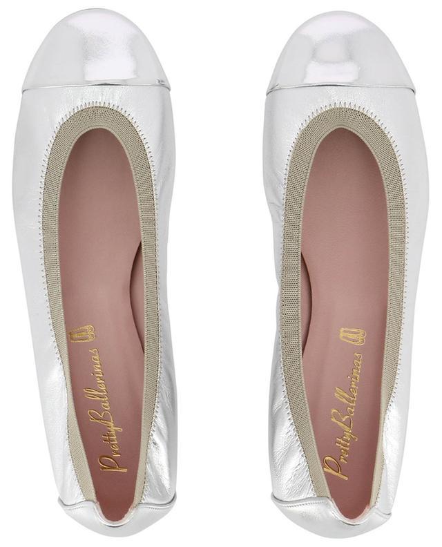 Shirley silver leather ballet flats PRETTY BALLERINAS