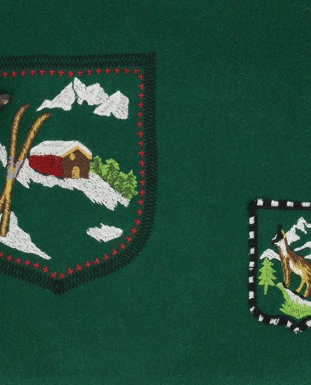 Trousse en laine brodée Écussons IOSIS