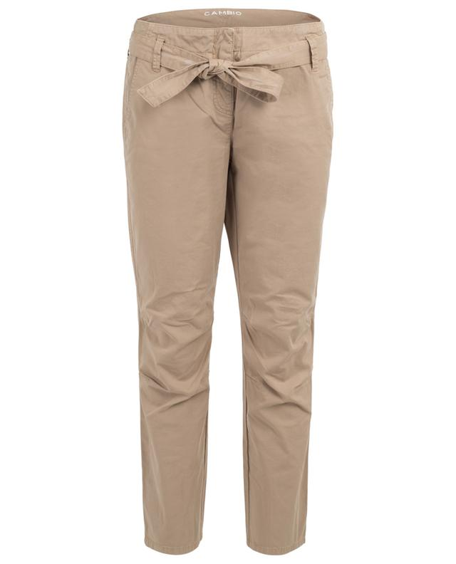 Koralia tapered chino trousers with belt CAMBIO