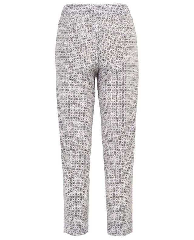 Pantalon en soie imprimée WHY MIX