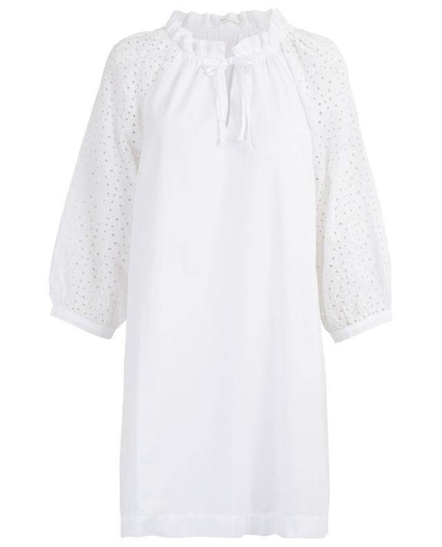 Iku short A-line dress with embroideries HANA SAN