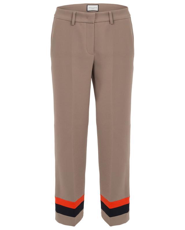 Luca straight fluid stripe detail trousers SEDUCTIVE