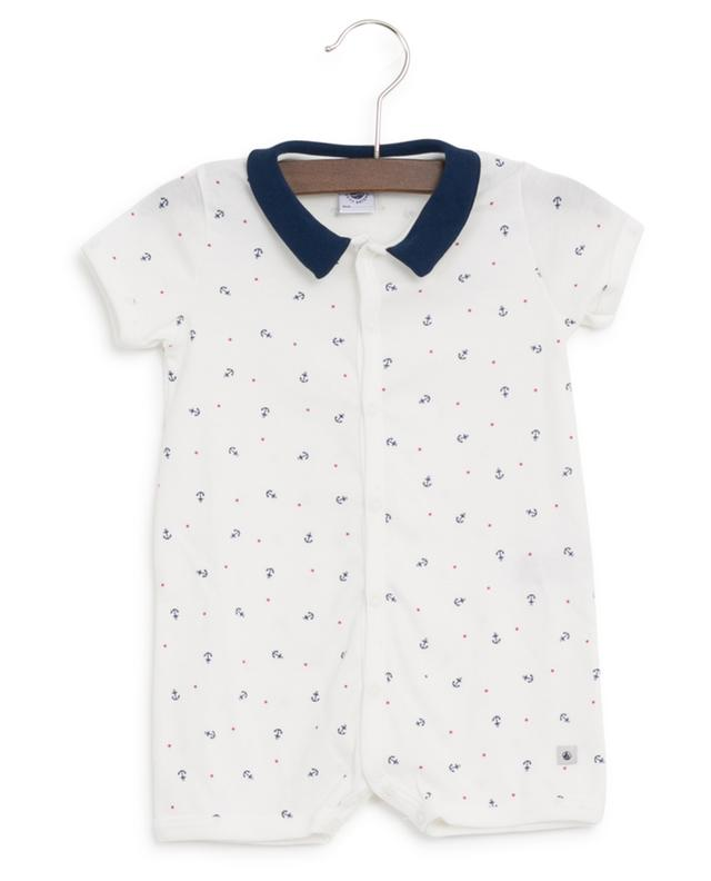 Anchor and Stars jersey playsuit PETIT BATEAU