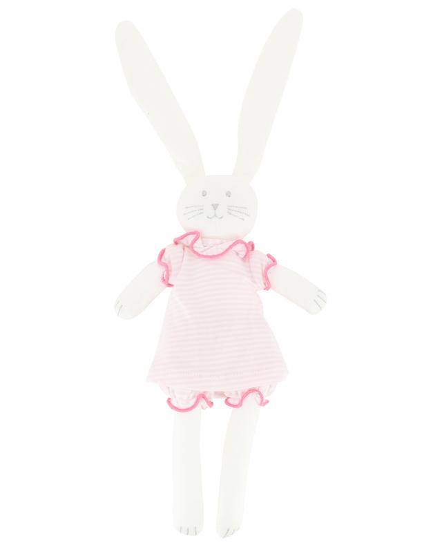 Dressed-up rabbit cuddly toy PETIT BATEAU