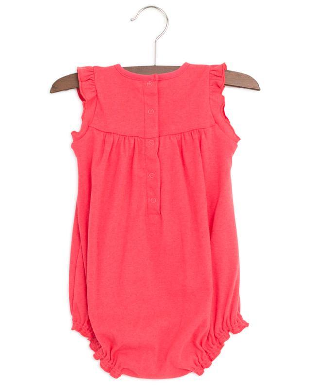Ruffled cotton and linen combi shorts PETIT BATEAU