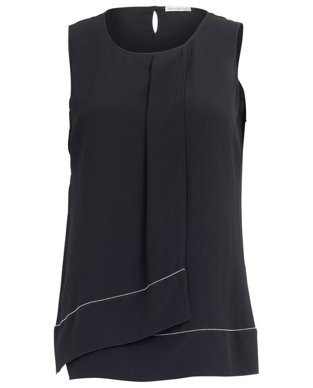 Sleeveless silk blend top CAMICETTASNOB