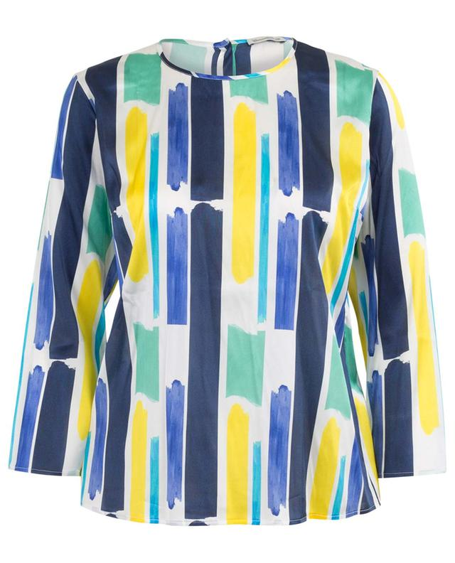 Breezy top with brushstroke pattern CAMICETTASNOB