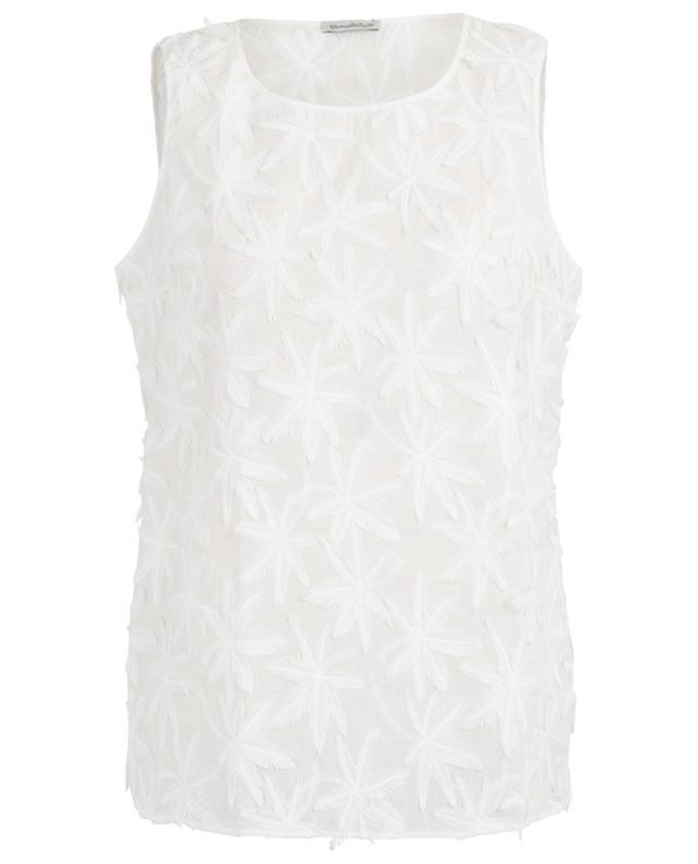 Palm embroidered sleeveless top CAMICETTASNOB
