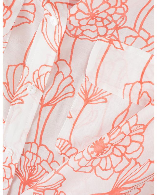 Chemise fleurie en coton et soie CAMICETTASNOB