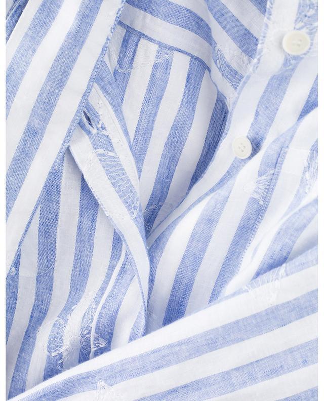 Striped flower embroidered shirt dress CAMICETTASNOB