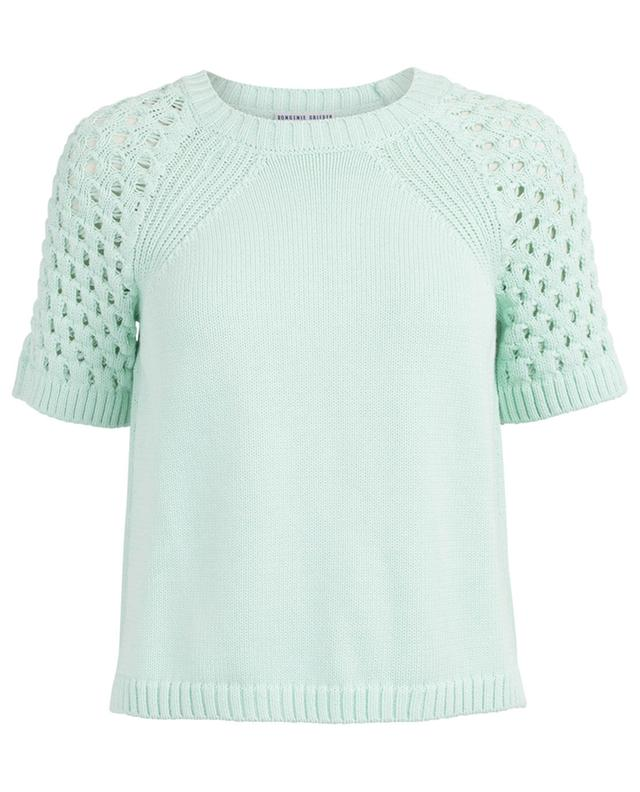 Short-sleeved cotton knit top BONGENIE GRIEDER