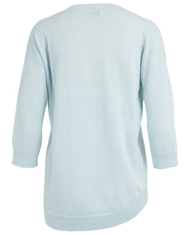 Fine linen V-neck jumper BONGENIE GRIEDER