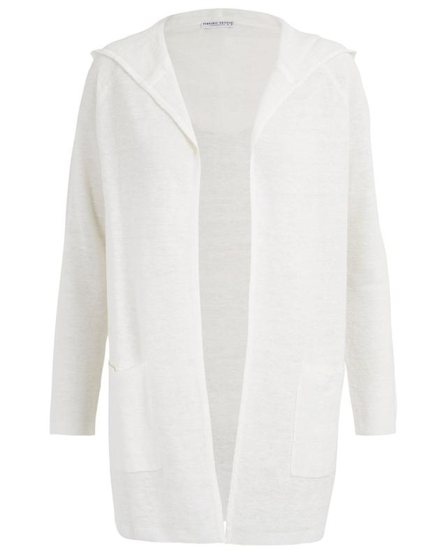 Hooded open linen cardigan BONGENIE GRIEDER