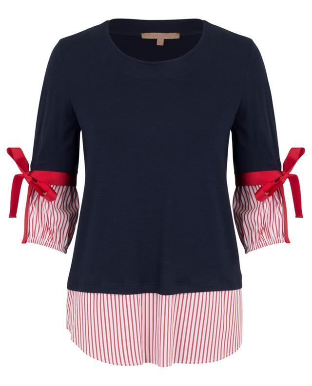 Jersey top with bows LA CAMICIA
