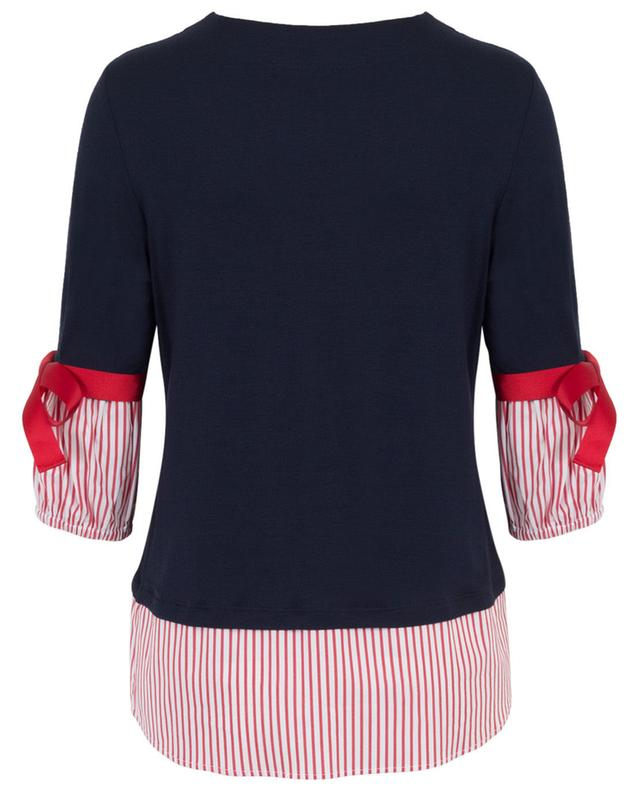 Jersey top with bows LA CAMICIA
