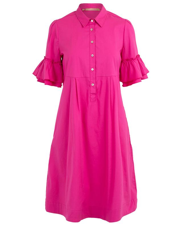 Shirt dress with ruffle sleeves LA CAMICIA